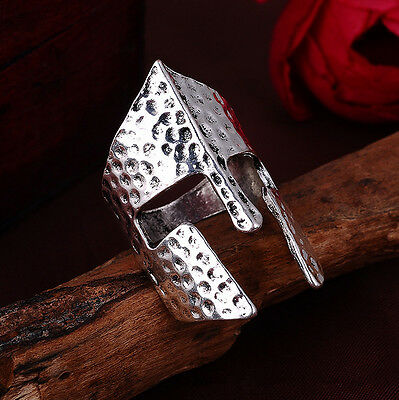 Jewelry Men's Knight mask stainless steel Fashion Punk design ring US size8 Z13