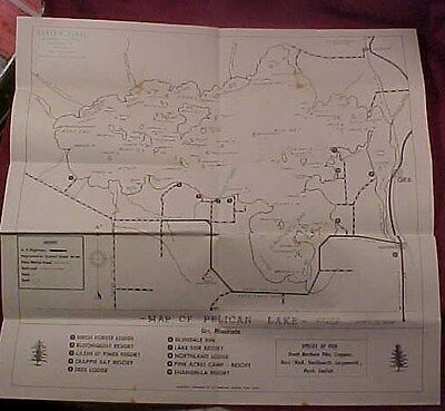Old Map of Pelican Lake Orr Minnesota Mn. 1940's?