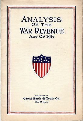 Analysis Of The War Revenue Act Of 1917
