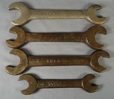 4 Vintage NASH Automobile Wrenches.