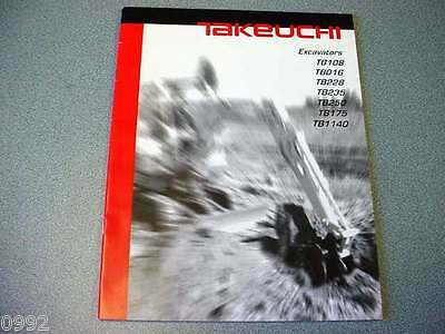 Takeuchi Excavators Brochure