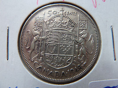 1948 Canadian Silver 50 cents....VG!!