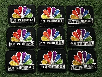 "Nbc Television Peacock Plant Maintenance 4"" Patch Lot Of 9"