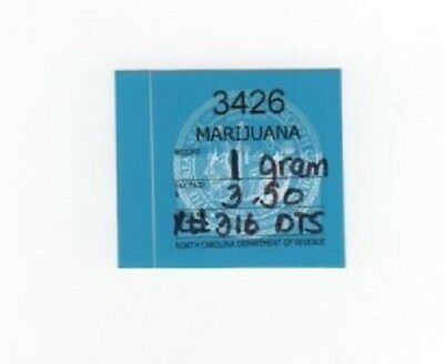North Carolina $3.50 marijuana - seeds & plants - stamp