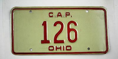 Vintage 1976 Original OHIO CAP Civil Air Patrol License Plate 126