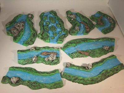 8X UnPainted  RIVERS LARGE LAY OUT FOR 6MM,10MM,15MM,20MM+