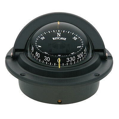 Ritchie F-83 Voyager Compass - Flush Mount - Black -F-83