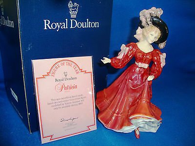 Royal Doulton Figurine Patricia Hn3385 Boxed + Certificate Excellent Condition