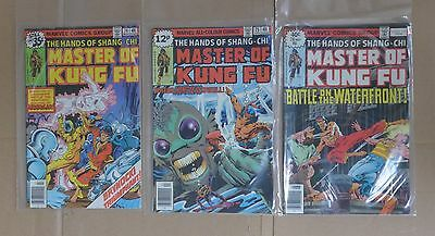 MASTER OF KUNG FU Hands of Shang-Chi MIKE ZECK Lot of 11 comic books 1st PRINT