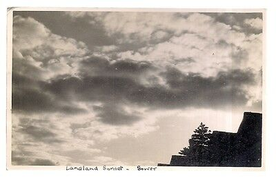 LANGLAND SUNSET, Gower UNUSED POSTCARD as seen wales early 20th c.