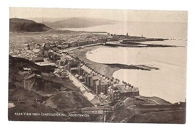 VIEW FROM CONSTITUTION HILL, ABERYSTWYTH..vintage unused postcard c. 1925