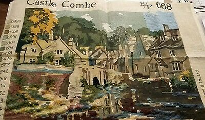 Vintage Tapestry Castle Combe Part Finished