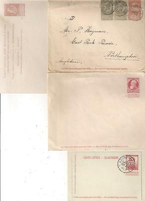 26324 BELGIUM selection of Early Postal stationery  x 4