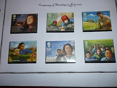 G B 2007 Scouting Set Mint Unmounted Stamps
