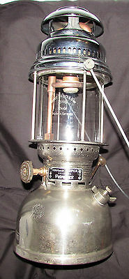 Petromax Super Paraffin Lantern All Chrome Fine Glass 2 Small Dents  826/350 Cp