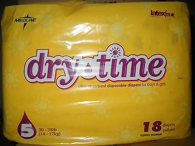 Baby Diapers Dry Time Medline Size 5 Case/144