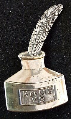 Mid-City 1949 New Orleans Mardi Gras Krewe Favor Sterling Silver pin B8925