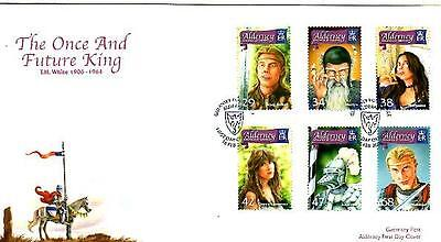 Alderney The Once And Future King Fdc 16-2-06 Guernsey Post Office Shs F2