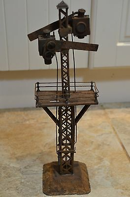 Rare Vintage Carette Large Railway Signal With Gantry 40Cm High