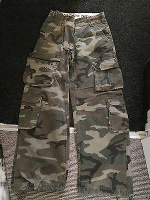 Mens Army Surplus Camouflage Trousers - Size 30R