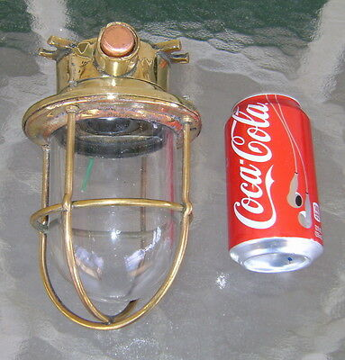 Nautical Related Vintage Cast Brass Passageway Light - Polished & Rewired!