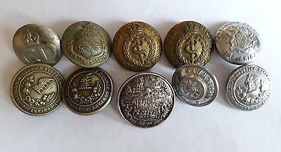 10 X LARGE 19th CENTURY LIVERY WW1 WW2 RAILWAY BUTTONS A NICE MIXED COLLECTION