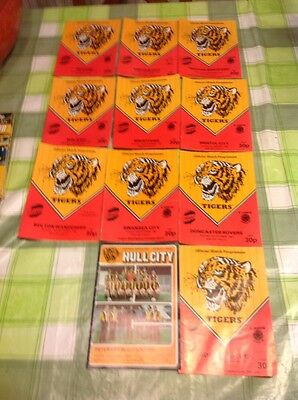 Hull city programme collection 1984
