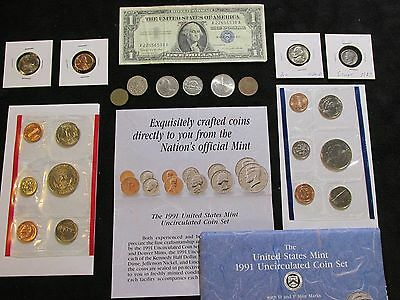 Coins Lot ~Half Dollars +1927 90% Silver+1956 Jefferson & MORE #118