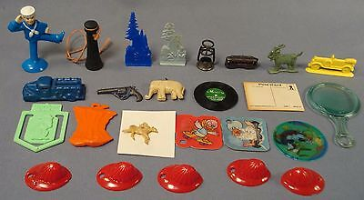 25 Cracker Jack Toys / charms.