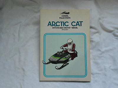 CLYMER ARCTIC CAT SNOWMOBILE Service & Repair Guide-1974 to 1977-Illustrated!!