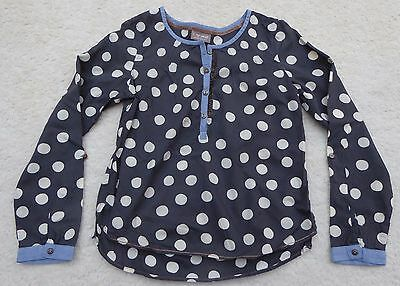 Next Girls Grey Spotty Shirt Top Age 9 Years