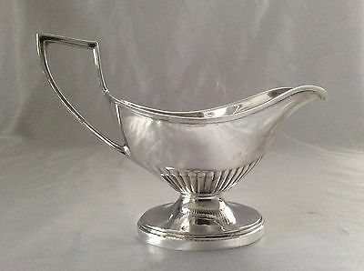 Heavy Quality Antique Silver Plated Footed Gravy Boat VINERS Of Sheffield