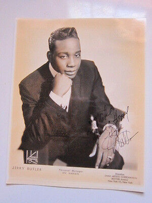 JERRY BUTLER  8x10 photo AUTOGRAPHED