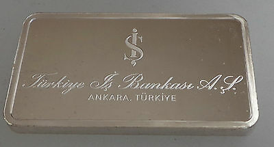 Silver Ingot Mint Condition 40 grms Minted by John Pinches Bank Turkey
