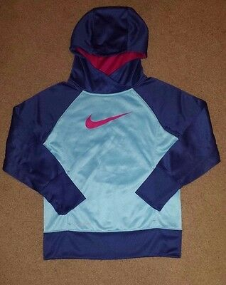Youth Girls Nike Therma Fit Hooded Pullover Sweatshirt   Sz M   ** Excellent **