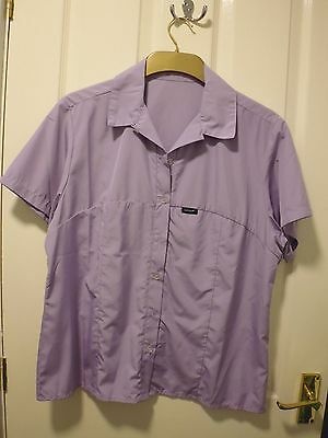 Paramo Womens Short Sleeved Shirt size M, pale lilac