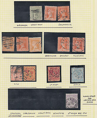 Victora (Australia State) QV Postmark Selection per scans