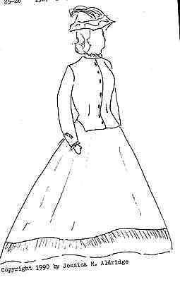 """23-24""""ANTIQUE FRENCH FASHION/CHINA HEAD/PARIAN DOLL@1860's DRESS&HAT PATTERN"""