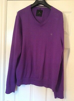 "MENS COTTON PURPLE JUMPER SIZE 42"".  Hardly worn"