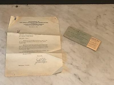 Cyril E King Signed Letter 1963 Mentions Kennedy Assassination St Thomas