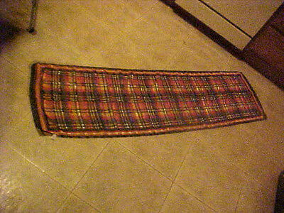 """Vintage Scarf Plaid Polyester 57"""" X 17"""" Italy"""
