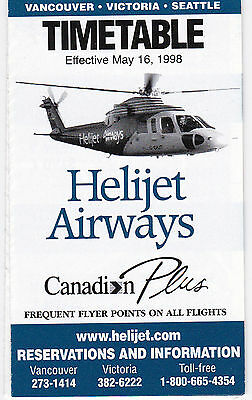 Helijet Airways - System Timetable - 16 May 1998
