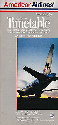 American Airlines - System Timetable - 8 September 1999