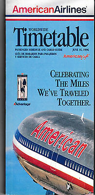 American Airlines - System Timetable - 16 June 1996