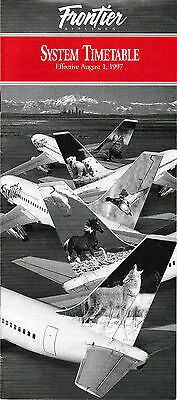 Frontier Airlines - System Timetable - 1 August 1997