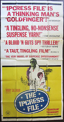 The Ipcress File 1965 Michael Caine Sue Lloyd Original US 3 Sheet Poster