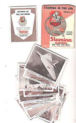 STAMINA IN THE AIR cards #18 COMPLETE SET OF 14 AEROPLANE CARDS with envelope