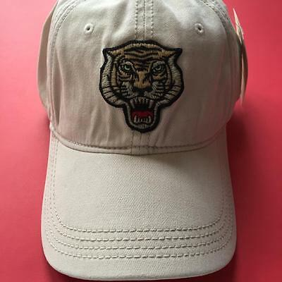 Lucky Brand Unisex Tiger Patch Baseball Ivory Color Cap Hat NWT