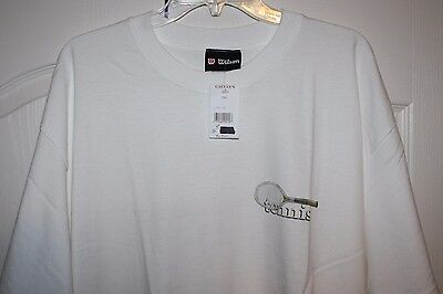 NEW Wilson White XL Graphic T-Shirt  WILSON TENNIS Extra Large NEW WITH TAGS