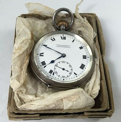 Royal Australian Navy Sterling Silver Pocket Watch - In issue Box
